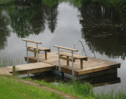 Swimming pontoon ECO bench Andry Prodel +372 5304 4000 andry@topmarine.ee