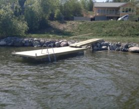 Timber pontoon with concrete floats Sweden Andry Prodel +372 5304 4000 andry@topmarine.ee