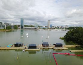 Timber pontoons with concrete floats Keilaniemi Andry Prodel +372 5304 4000 andry@topmarine.ee
