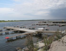 Timber pontoon with concrete floats Lomala Andry Prodel +372 5304 4000 andry@topmarine.ee