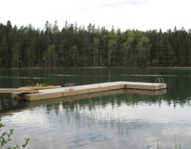 Timber pontoons with concrete floats Finland Andry Prodel +372 5304 4000 andry@topmarine.ee