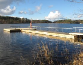 Timber pontoons with concrete floats Rantalinna Andry Prodel +372 5304 4000 andry@topmarine.ee