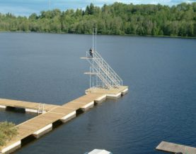 Timber pontoons with concrete floats jumping tower Andry Prodel +372 5304 4000 andry@topmarine.ee